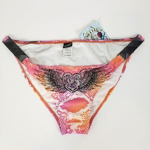 Sinful by Affliction angel wings bikini bottom